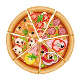 Піца з інгредієнтами на вибір 33 см.