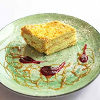 Торт Наполеон грушевий
